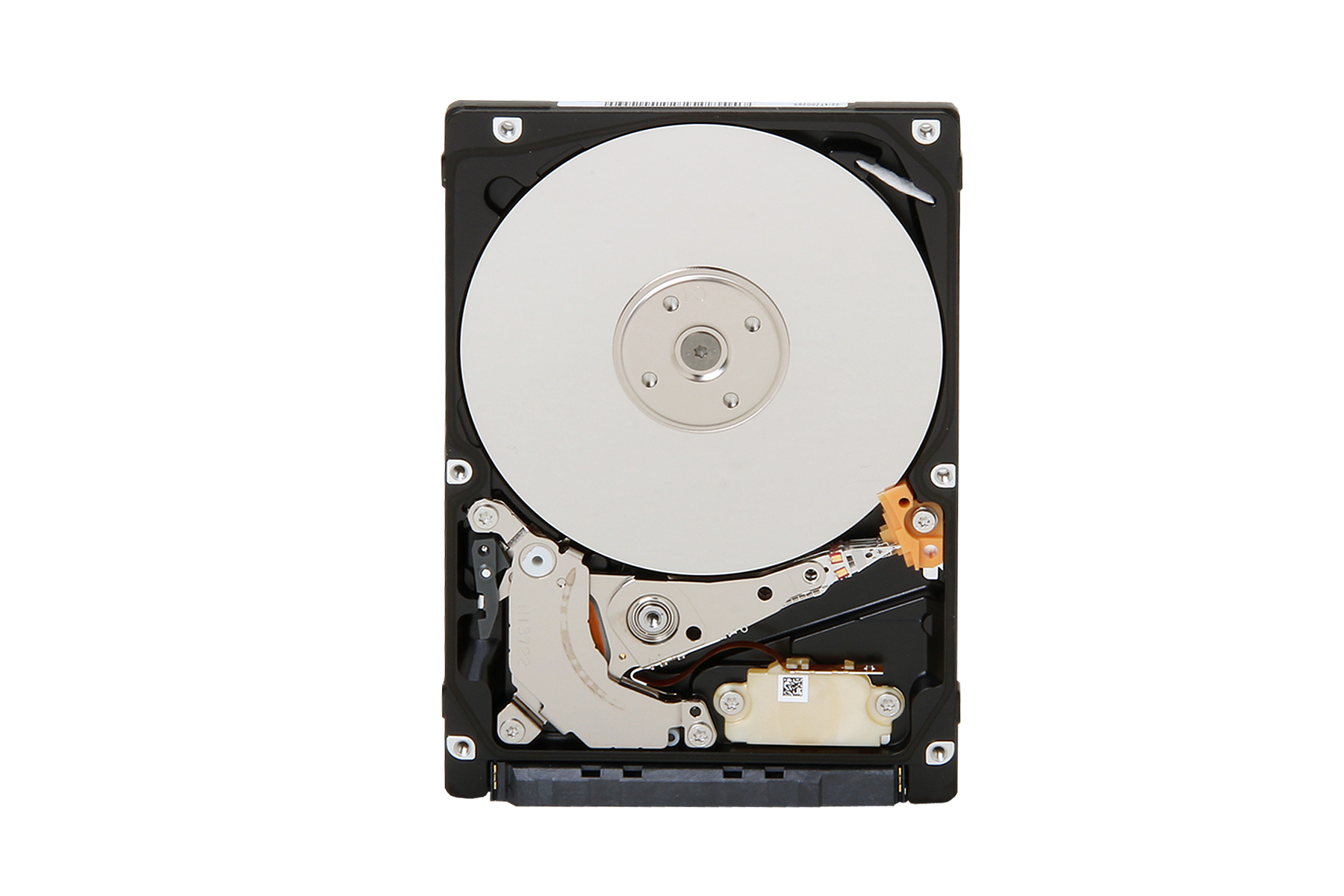 Toshiba全新2.5吋薄7毫米雙碟片硬碟產品圖。