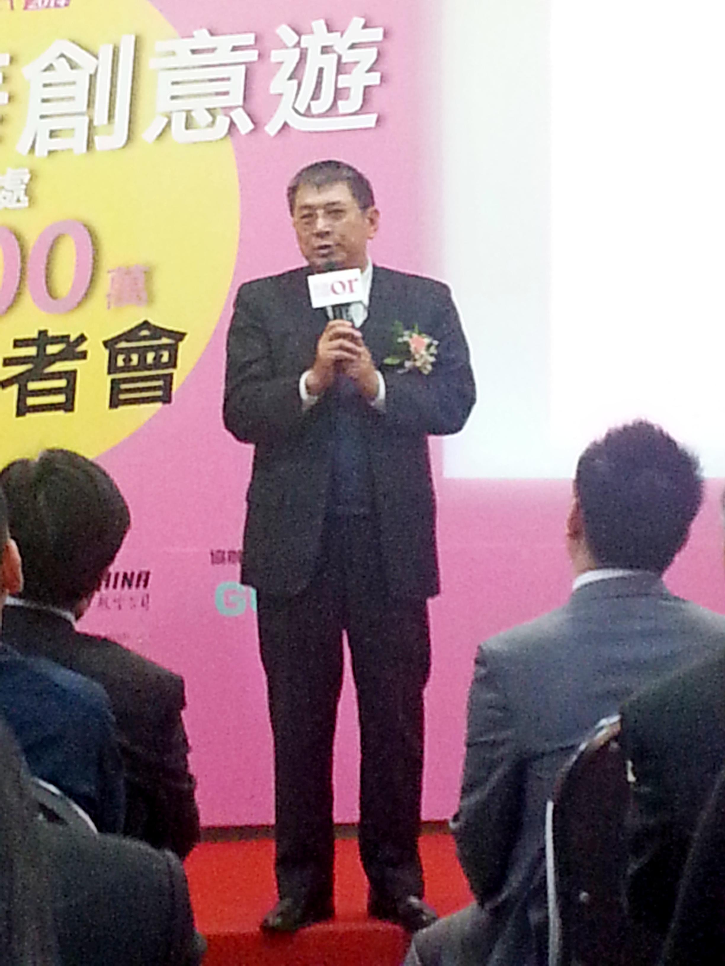 出席2014青年美麗中華創意遊的海旅會駐台北主任滿宏衛。(台灣英文新聞)