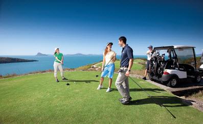 圖為漢密爾頓島一座頂級高爾夫球場。