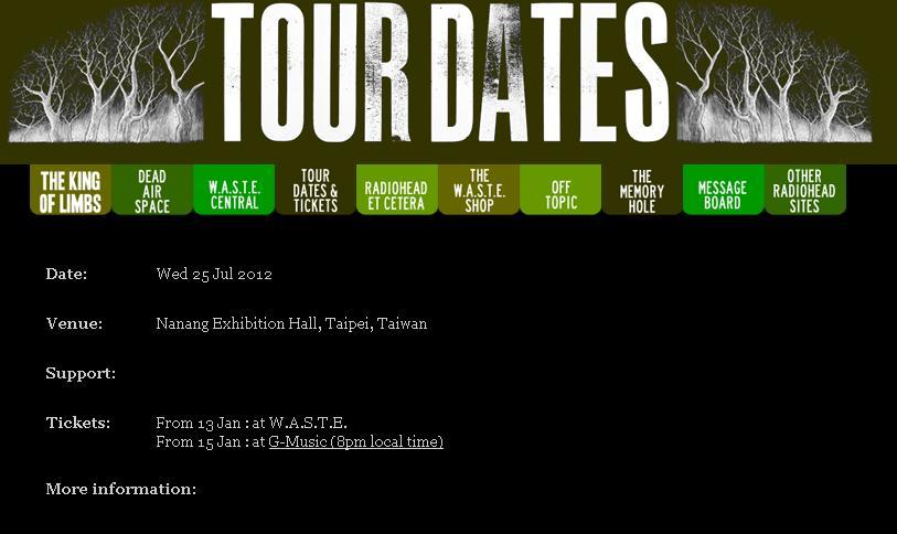 「電台司令」的官方網站就先行正式公布來台開唱的訊息,演唱時間為今年7月25日在南港展覽館開唱,1月15日晚上8點在玫瑰大眾售票網開賣。(圖...