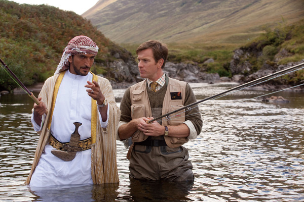 """Amr Waked, left, and Ewan McGregor star in CBS Films' """"Salmon Fishing in the Yemen."""" (McClatchy Newspapers)"""