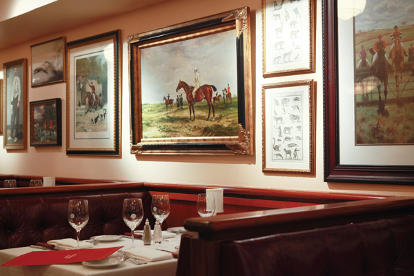 The new artwork for Maloney & Porcelli, a chophouse founded in 1996, in New York, March 26, 2012. (The New York Times)
