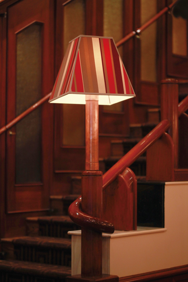 The photos show an old lamp (left) and a new lamp (right) at Maloney & Porcelli, a chophouse founded in 1996, in New York, March 21, 2012. (The New Yo...