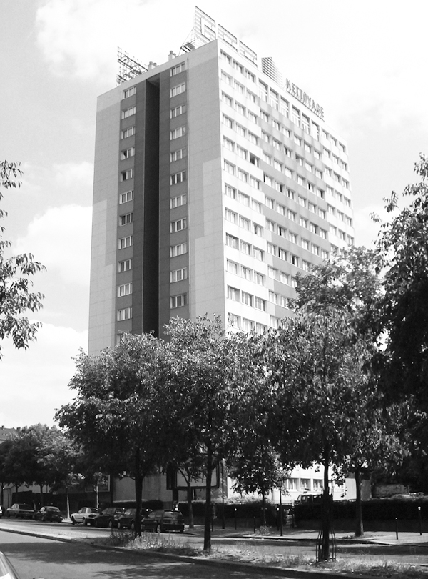 In an undated handout photo, the Tour Bois le Pretre housing tower before its retrofitting in Paris. (The New York Times)