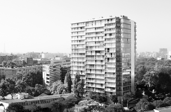 In an undated handout photo, the Tour Bois le Pretre housing tower after its retrofitting in Paris. The building, a project built in the 1960s, has be...