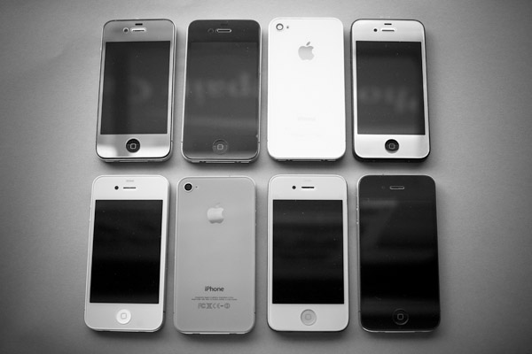 Color cases for iPhones from Zeetron in New York, March 23, 2012. (The New York Times)