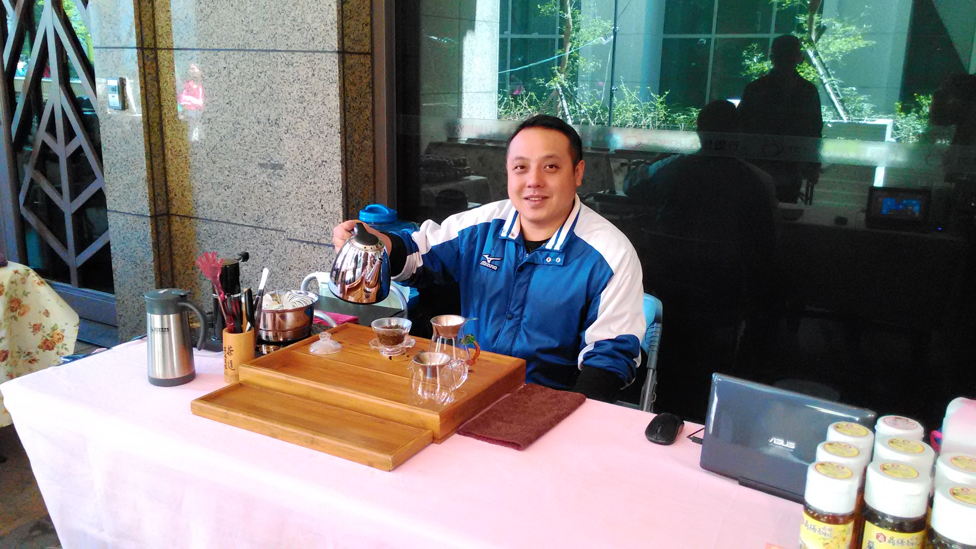 新北青年農民聯誼會會長蘇育裕,好茶也可以很道地。