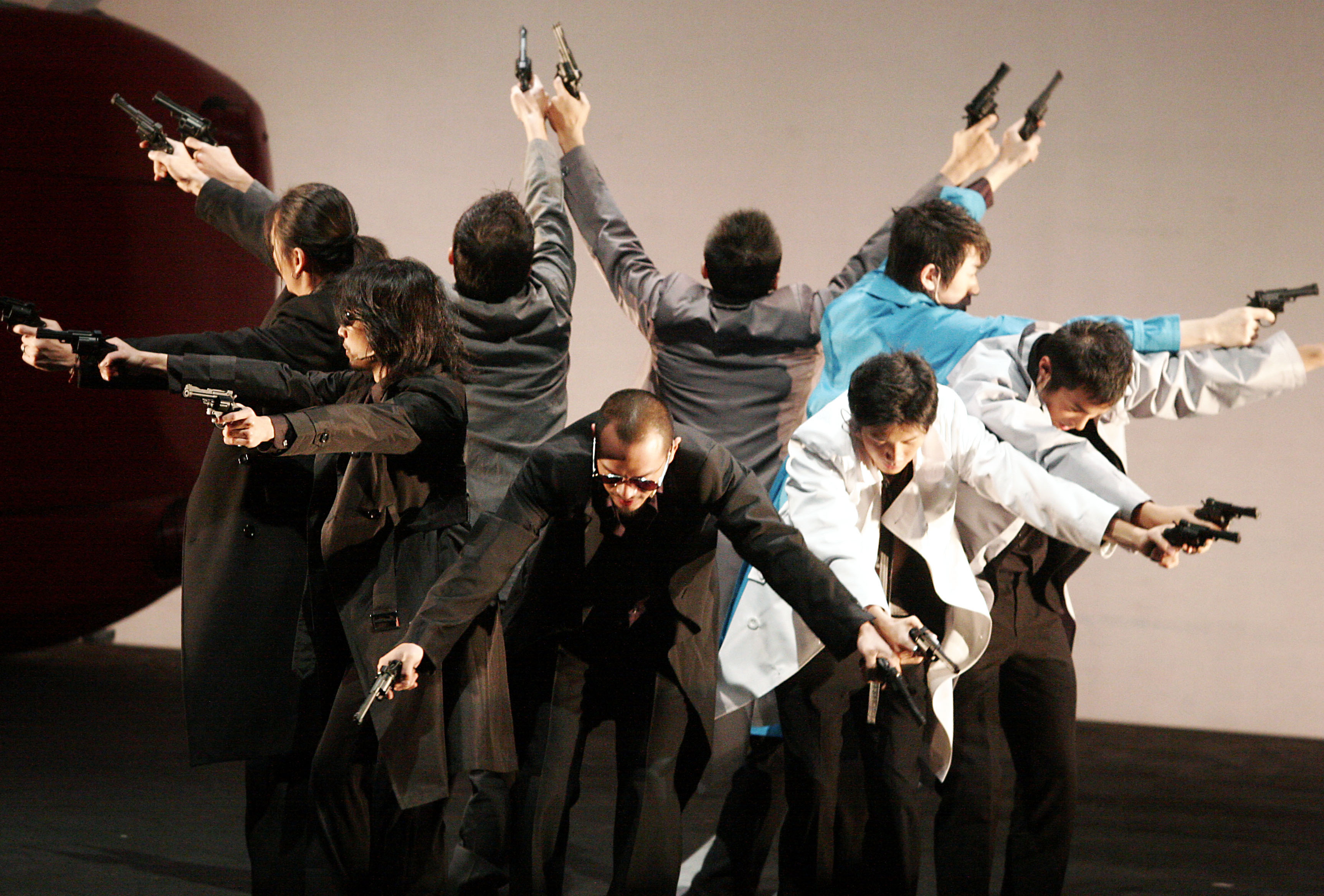"""Actors rehearse a RPG theatre"""" What is Man? """" at the National Theater Hall on Dec. 21, 2006, it will be performed from now until Dec. 31."""