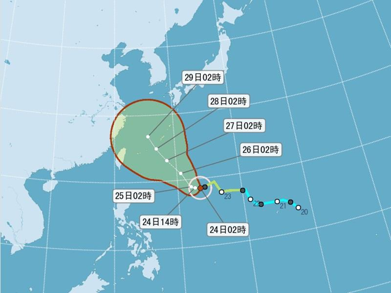 Typhoon Dujuan to impact Taiwan through Mid-Autumn Festival