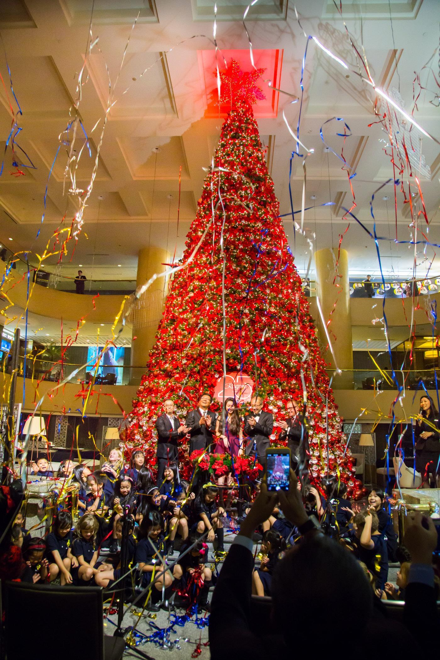 Regent Taipei lights up a giant Christmas tree