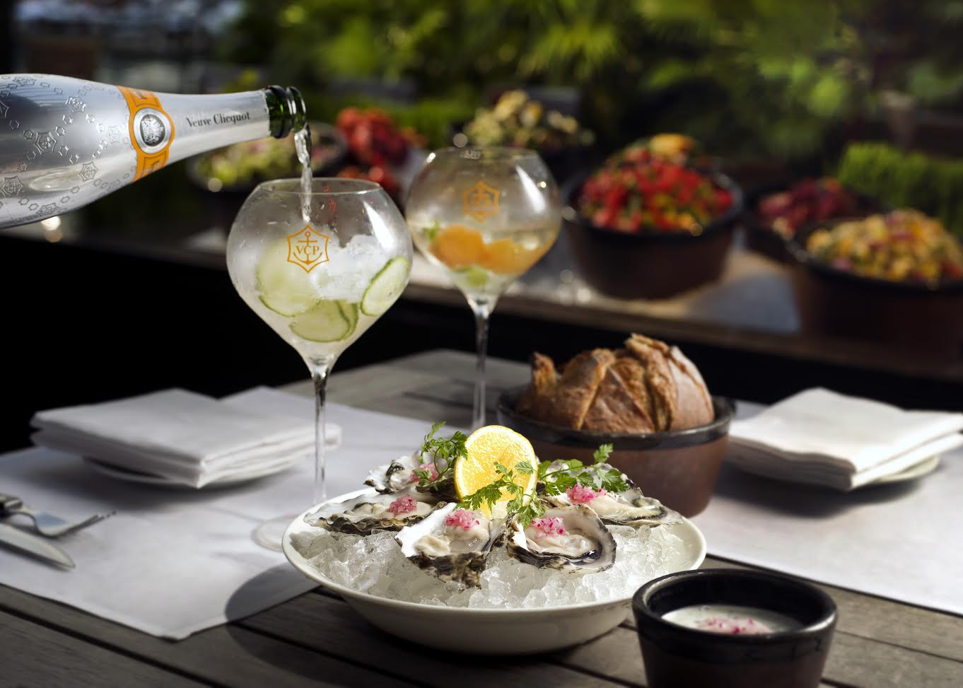 Savour a poolside barbecue dinner with Veuve Clicquot Rich