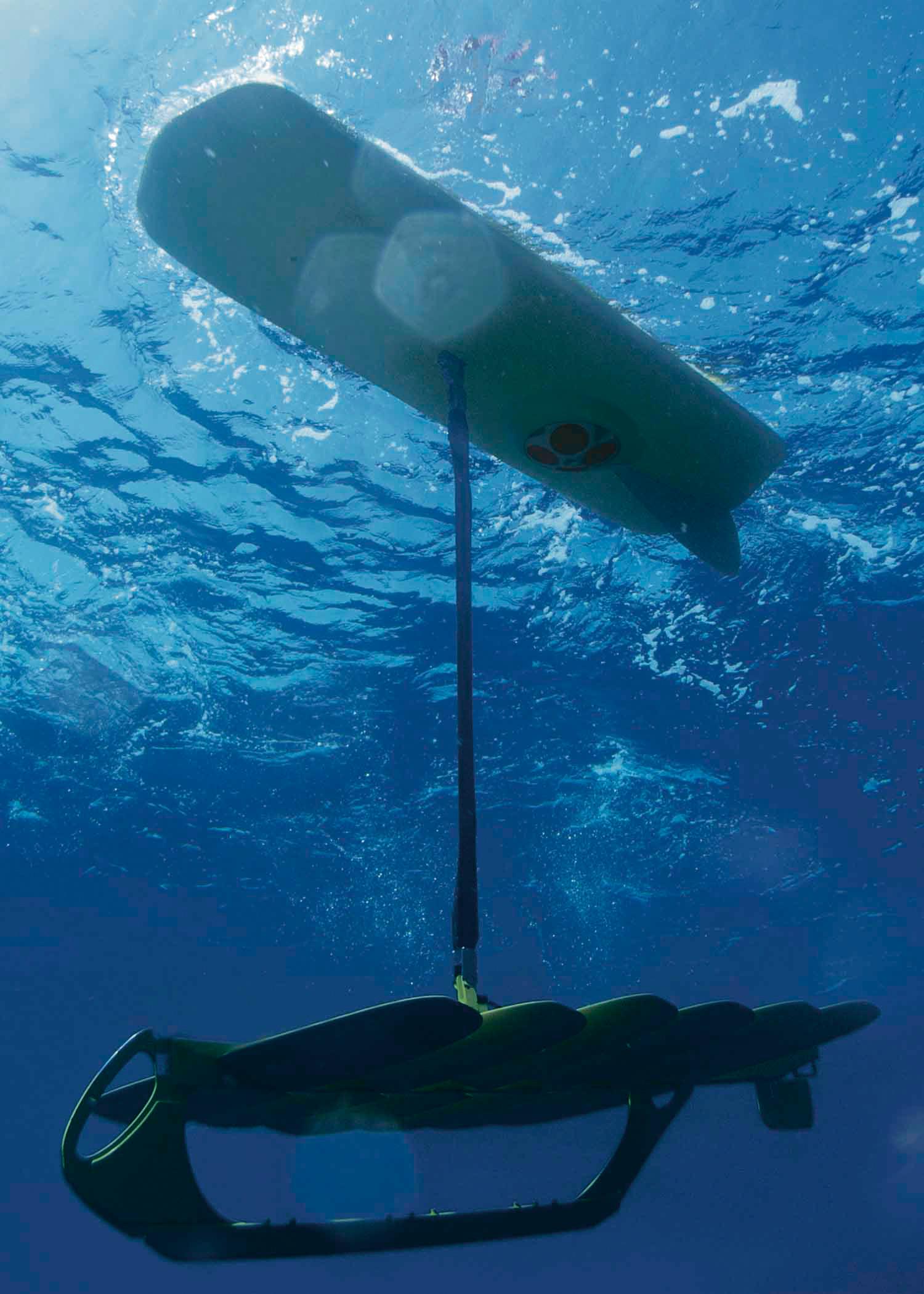 A Wave Glider from Liquid Robotics measures currents in an undated handout photo. James Gosling, the designer of Java, formed Liquid Robotics, the com
