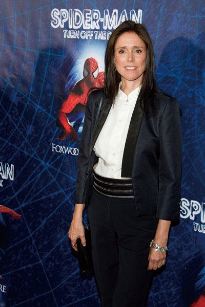 """In this June 14, 2011 file photo, Julie Taymor arrives at the opening night performance of """"Spider-Man Turn Off the Dark.""""(Associated Press)"""