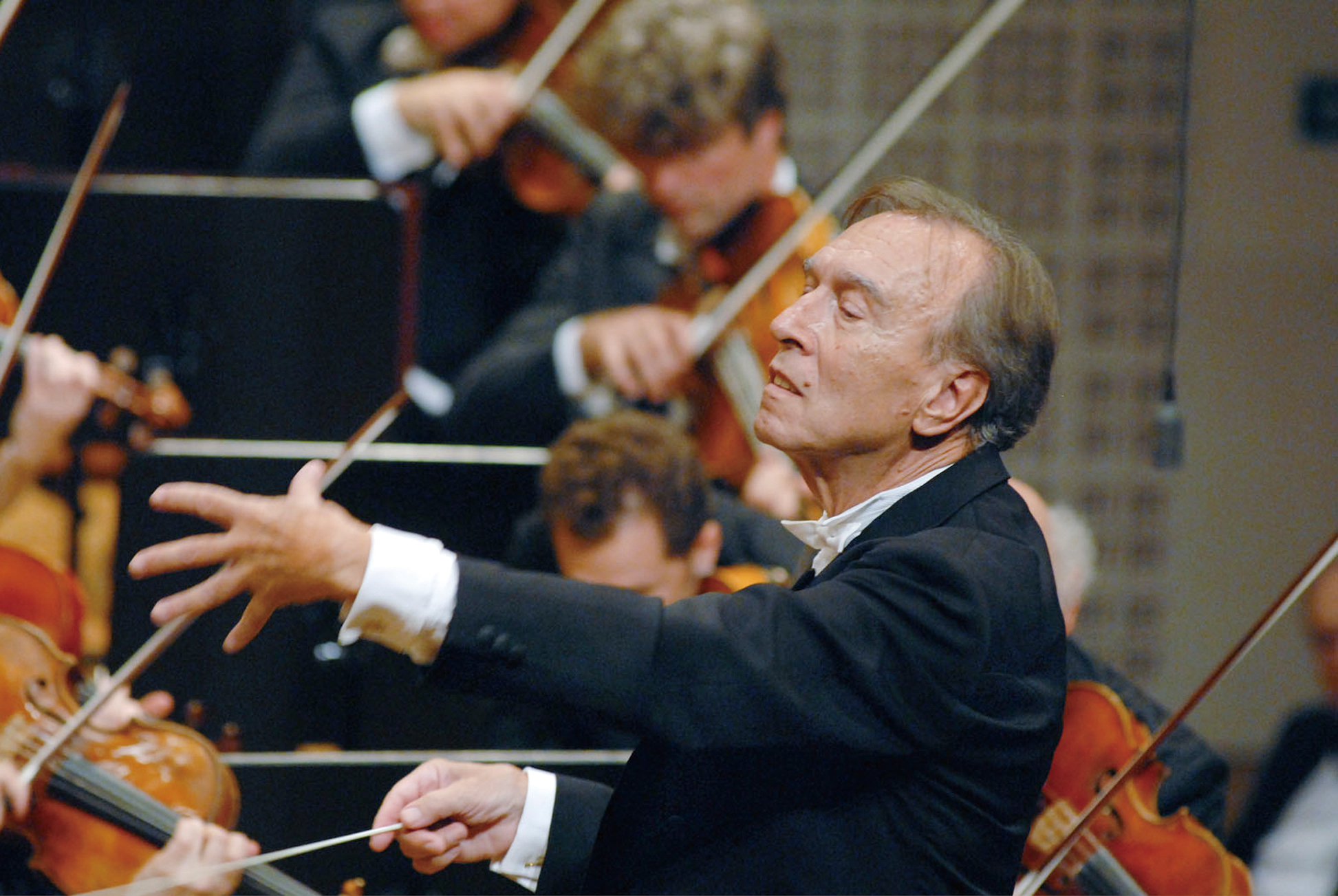 An undated handout image of Claudio Abbado. Artistic differences are cited in the fracturing of the classical music partnership of Helene Grimaud and ...