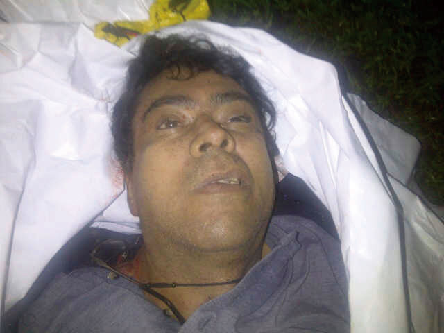 In this photo released by Colombia's Defense Ministry, the body of Alfonso Cano, the top leader of the Revolutionary Armed of Colombia, or FARC, is se...