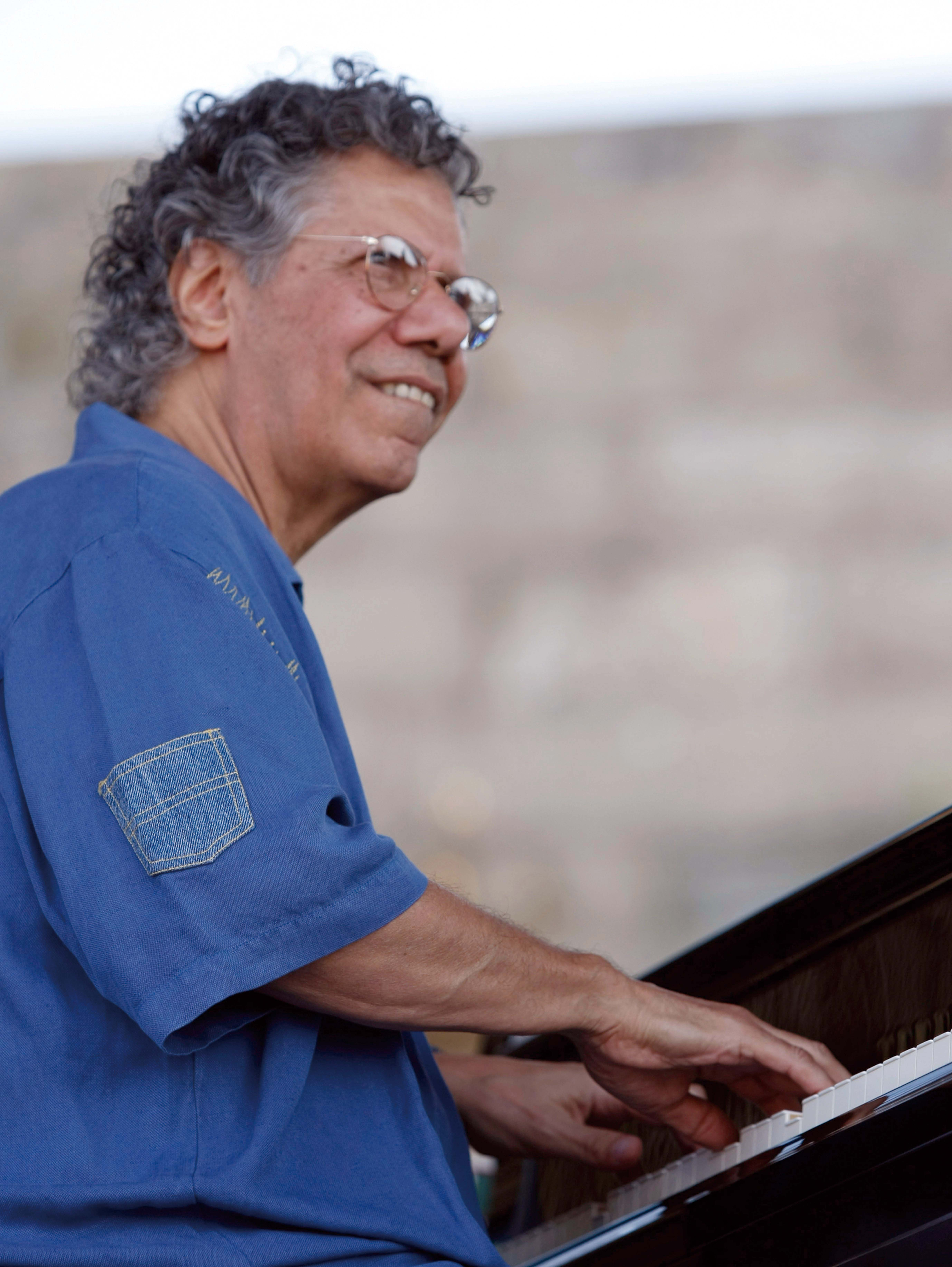 In a Saturday, Aug. 7, 2010 file photo, Chick Corea performs at the CareFusion Newport Jazz Festival in Newport, R.I. Associated Press)