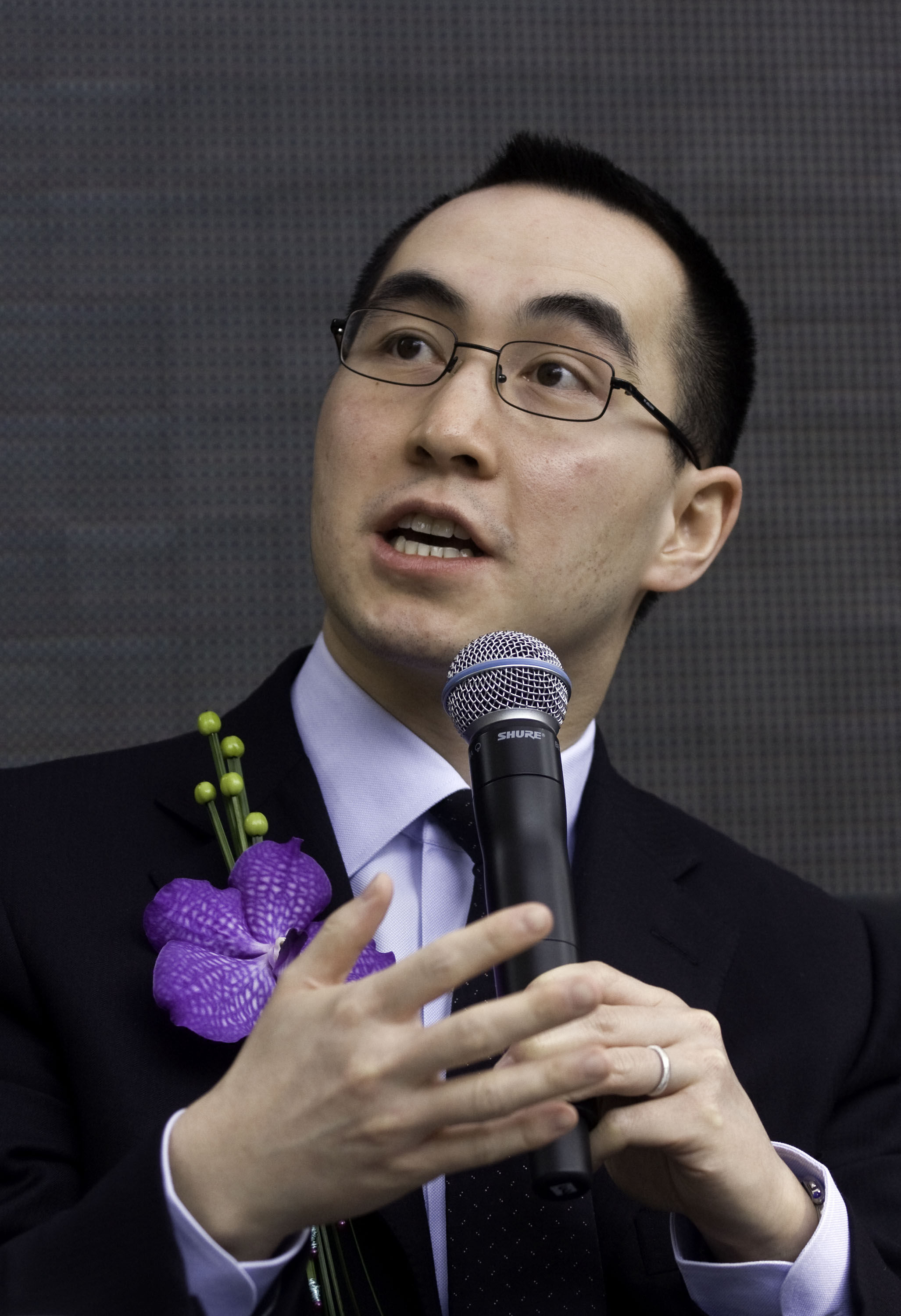 Lawrence Ho is seen speaking at a news conference in Macau in this April 2008 file photo.