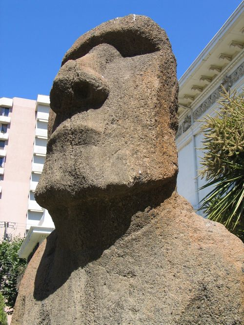 If you can't make it out to Easter Island, one of the ancient stone statues was brought to the mainland and is displayed outside the Fronk Museum in V...