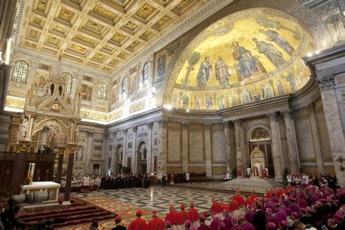 A view of a solemn vespers service for St. Peter and St. Paul led by Pope Benedict XVI, in St. Paul Outside the Walls Basilica, in Rome, Italy on Sund...