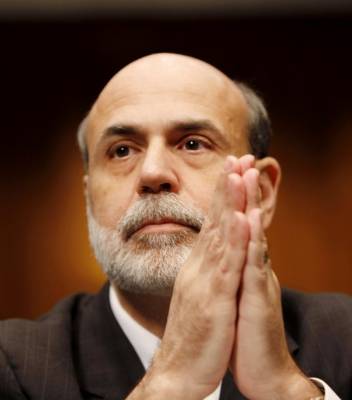 Federal Reserve Chairman Ben Bernanke is seen in Washington, D.C. before the Senate Banking Committee hearing on the semi-annual monetary policy repor...