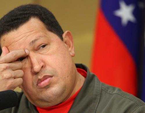 Hugo Chavez, Venezuela's president, speaks during a news conference in Tokyo, Japan on April 7.