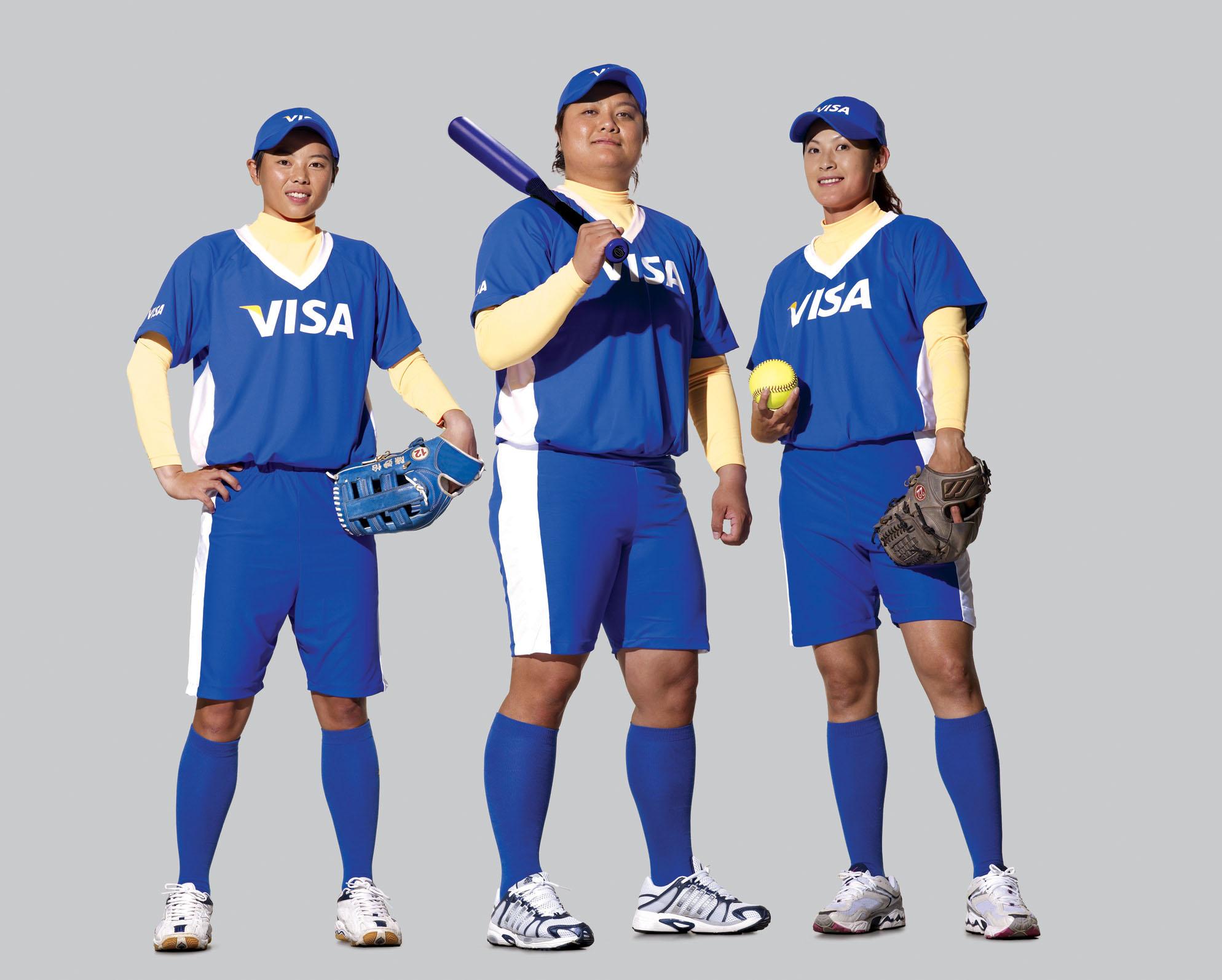 Visa支持奧運選手正式成立「Team Visa」,集合體育菁英,攜手在2008年奧林匹克運動會全力奪牌。圖為「Team Visa」女壘隊...