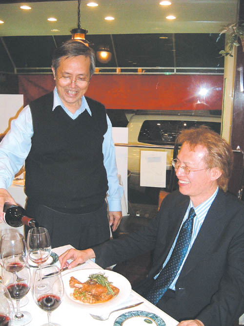 Sonny See, left, proprietor of The Vineyard Wine Shop & Bar, has found his slice of paradise in Shihlin.