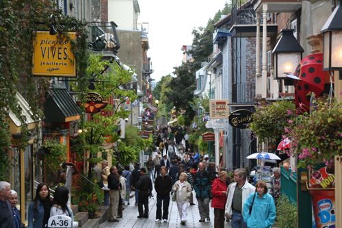 Quebec City visitors inevitably make their way to Rue du Petit-Champlain for its shops, galleries, restaurants and street entertainers.