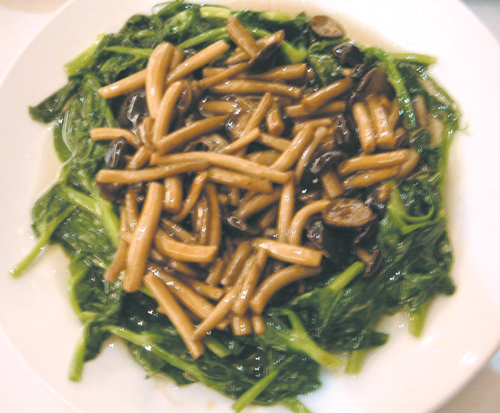 This dish of sauteed mushroom and vegetable is worth a try.