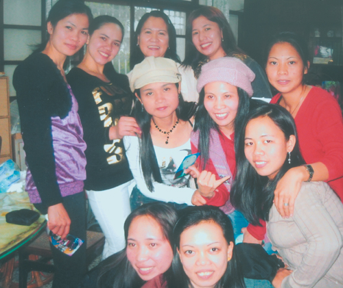 Kabayan readers in Taitung led by Aileen Noriega, back row and second from right, smile to the camera.  These gorgeous ladies are also active church v...