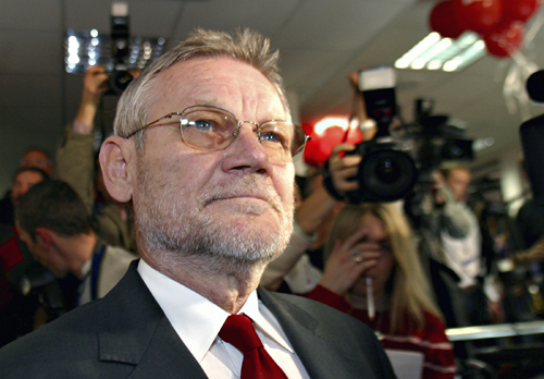 Croatia's former prime minister and main opposition leader, Ivica Racan, is seen in this November 2003 photo.