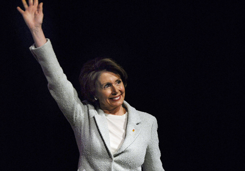 Newly elected House Speaker Nancy Pelosi is seen greeting  supporters in Washington, D.C. in this file photo.