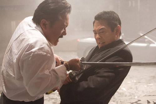 "Ryo Ishibashi, left, and Jet Li cross swords in ""Rogue Assassin."""