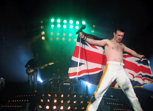 Gary Mullen performs as Freddie Mercury in the Queen  tribute band One Night of Queen.