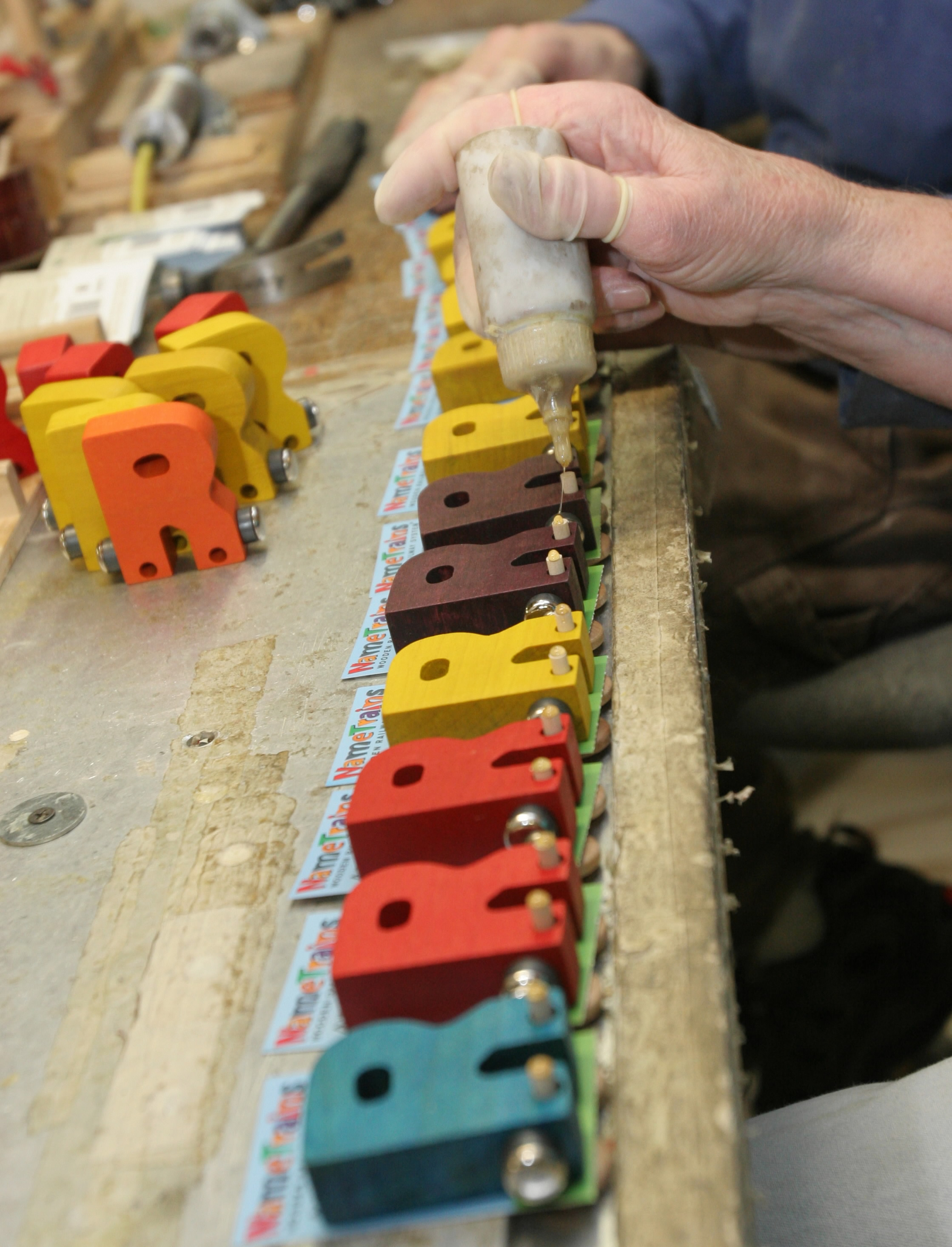 Maple Landmark, whose business is booming after the China scare, uses nontoxic materials in its wooden toys - everything from trains to school buses....