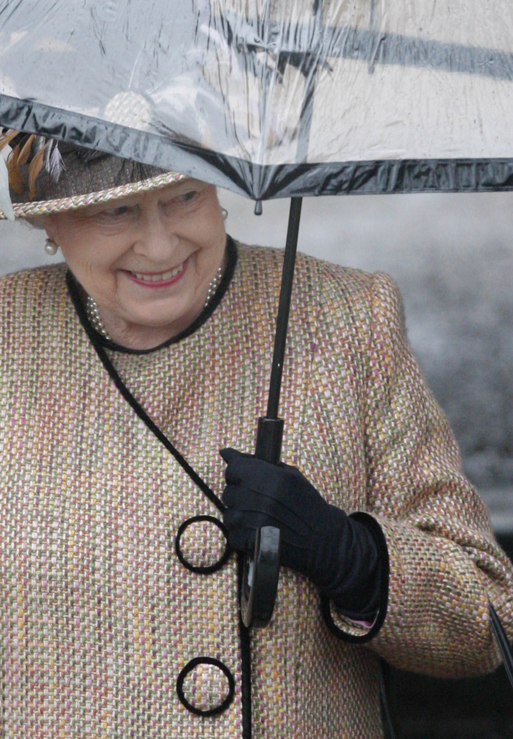 Britain's Queen Elizabeth attends the Christmas service at Sandringham Church in Norfolk, eastern England yesterday.