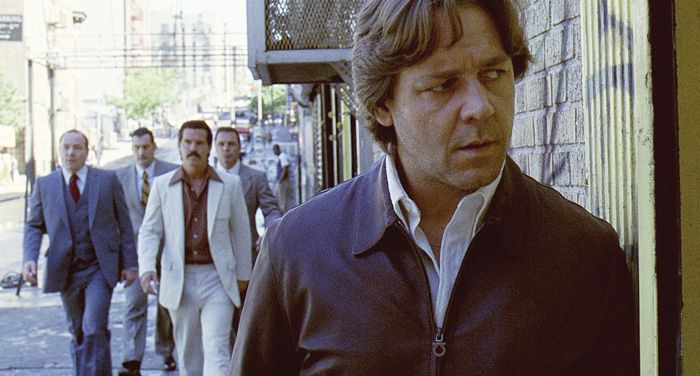 """Russell Crowe, right, in """"American Gangster."""""""