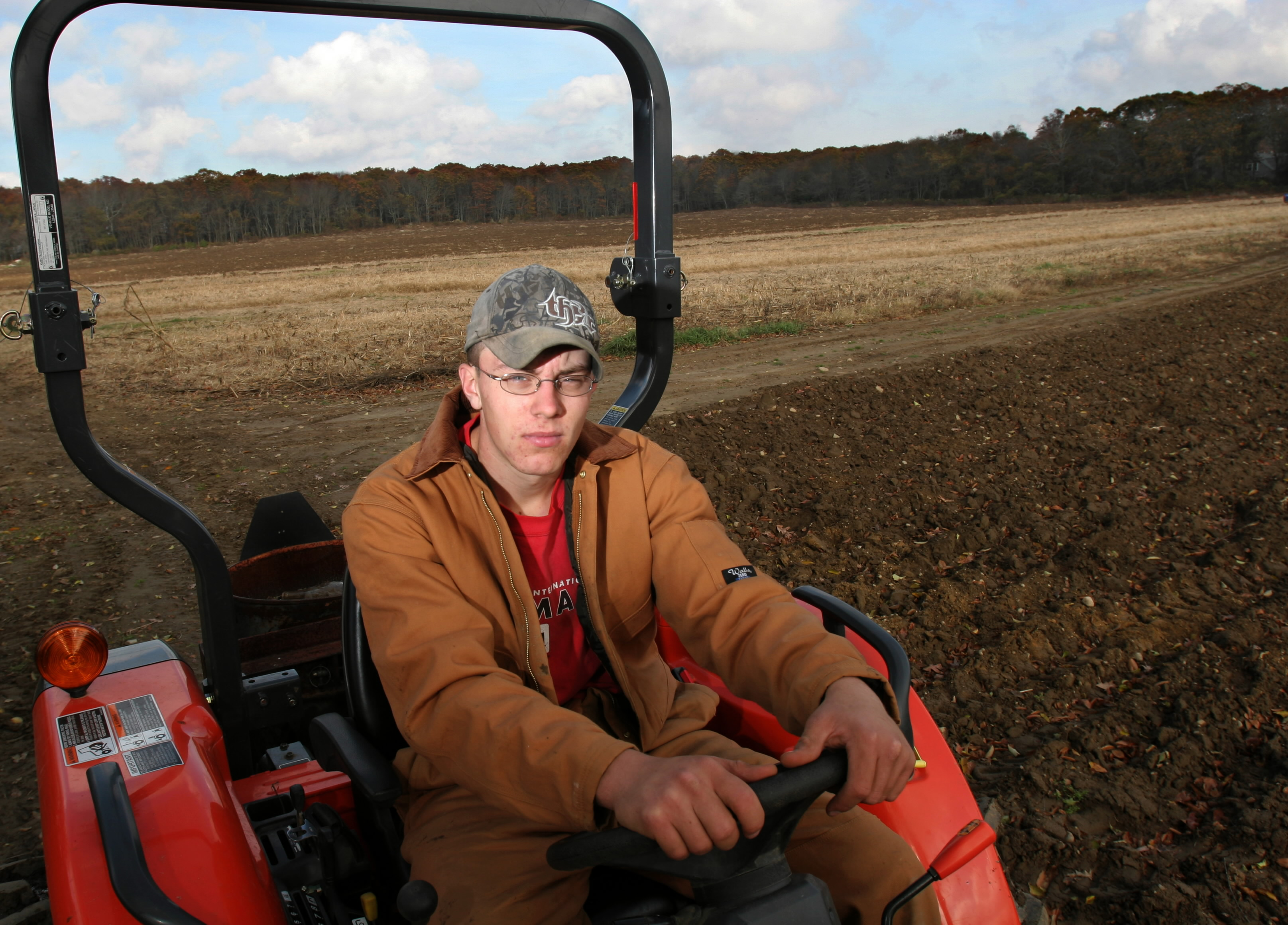 Eighteen-year-old farmer Andrew Orr bought a farm in Westport, and grows corn and other vegetables rather than attending college.