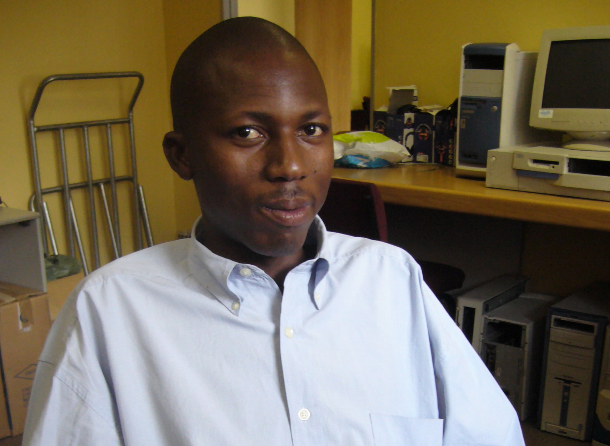 Terrance Mohlala has started a successful computer business with the help of The Business Place.