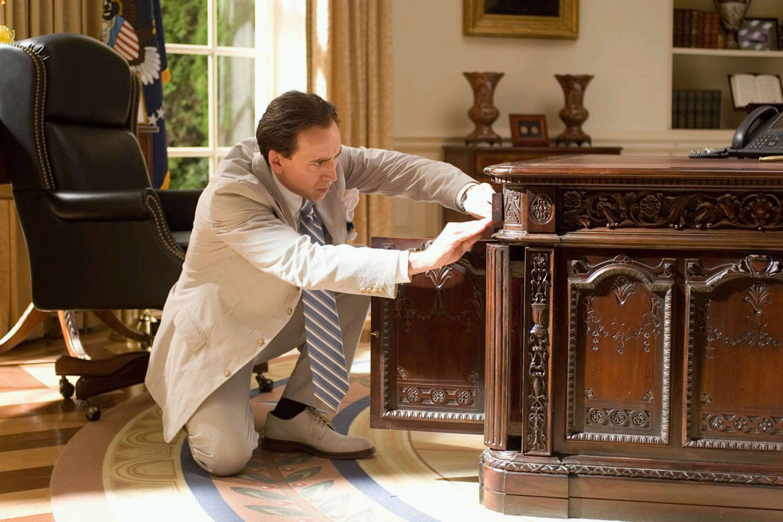 "Nicolas Cage reprises his role as Benjamin Franklin Gates in ""National Treasure 2: Book of Secrets."""