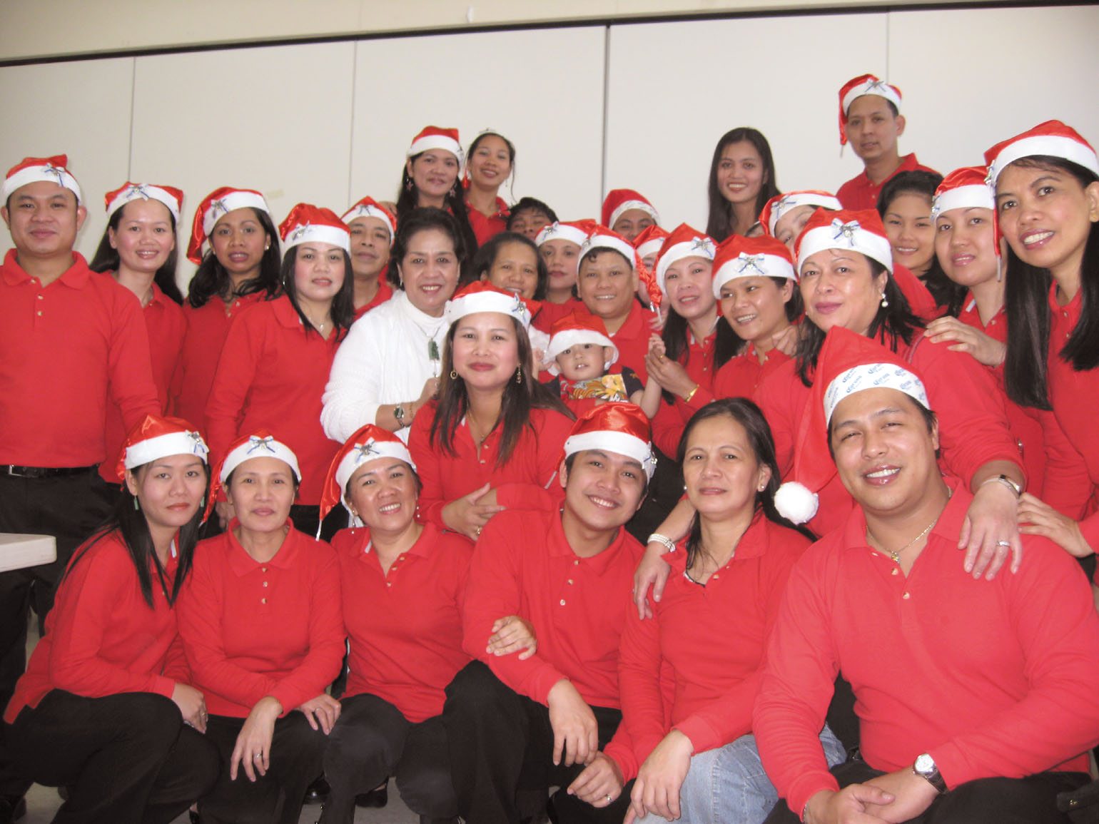 Members of the Family Life Group celebrate Christmas at St. Christopher's Church in Taipei last Sunday.