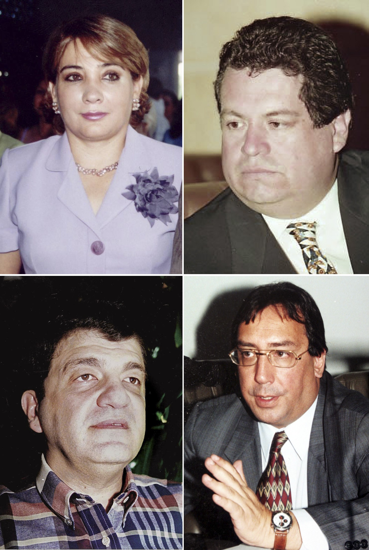 Clockwise from top left: Colombian lawmakers Gloria Polanco, Orlando Beltran, Jorge Gechem and Luis Eladio Perez, have been held hostage for at least ...