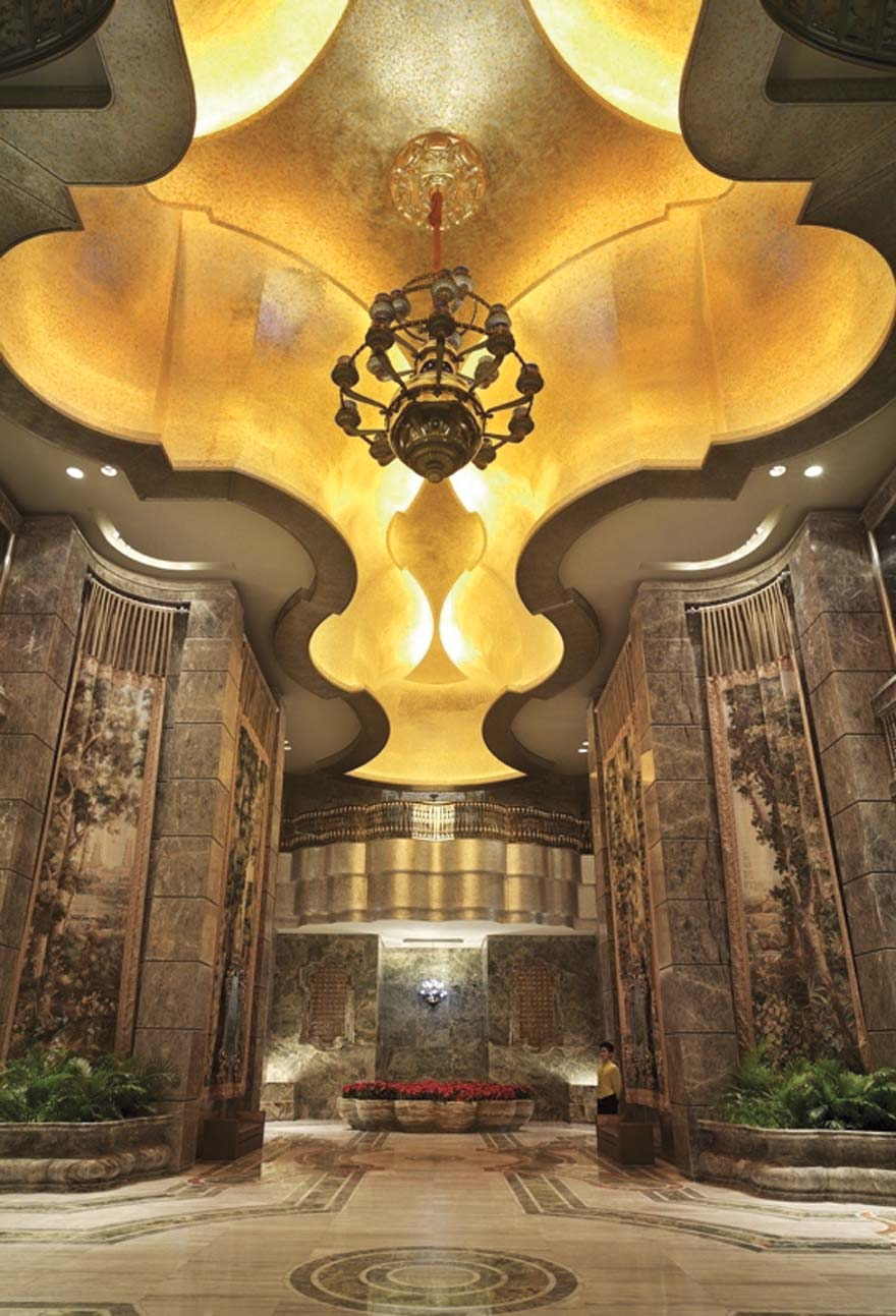 The MGM Grand Hotel on the Cotai Strip in Macau has an impressive, separate lobby for the high rollers billeted at the hotel.