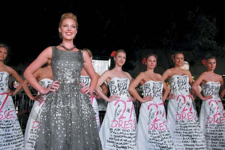 Katherine Heigl, foreground, is seen at the premiere of '27 Dresses' in this file photo.