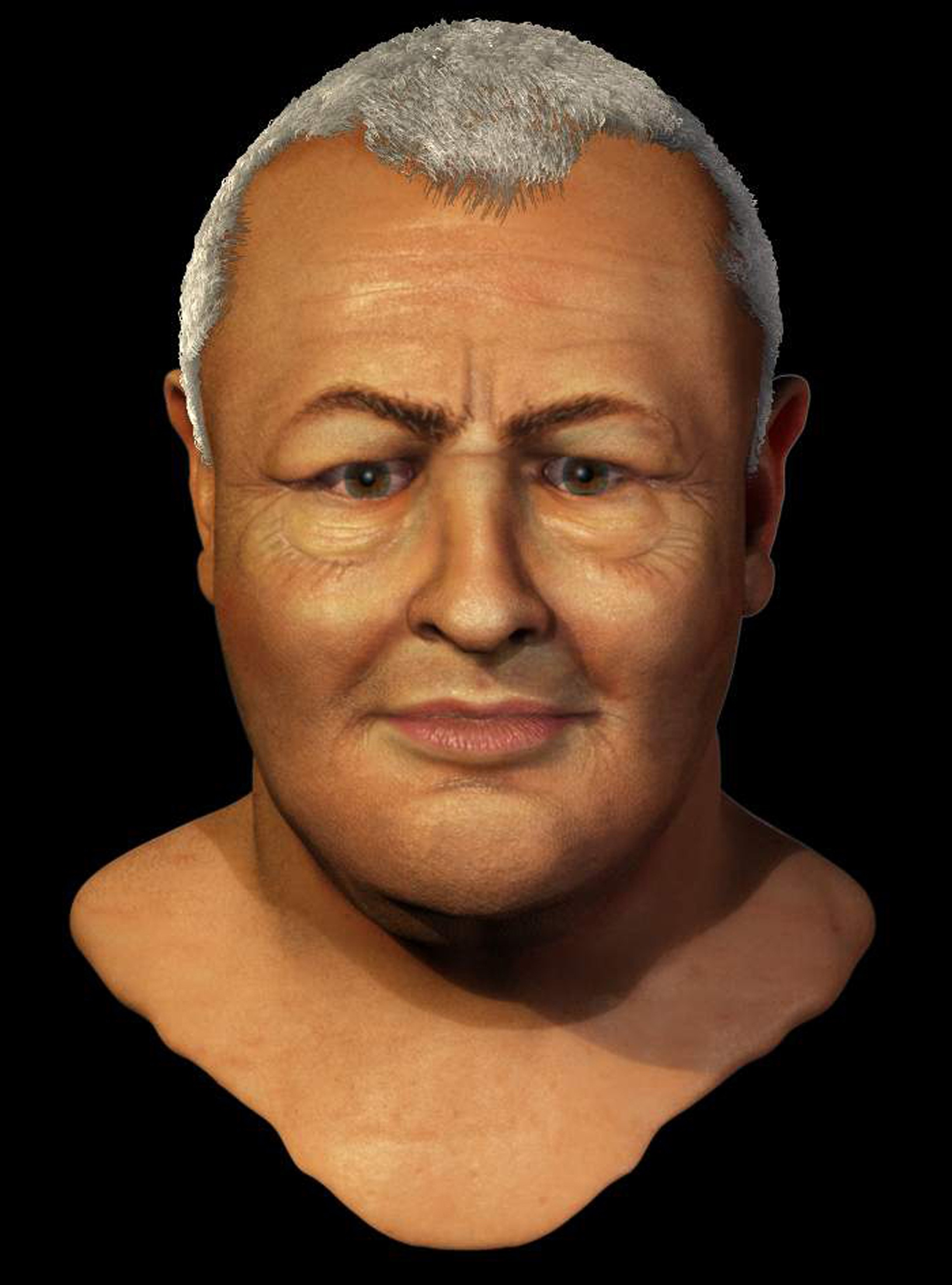A handout graphic image released on Thursday in Germany shows a reconstruction of Bach's face.