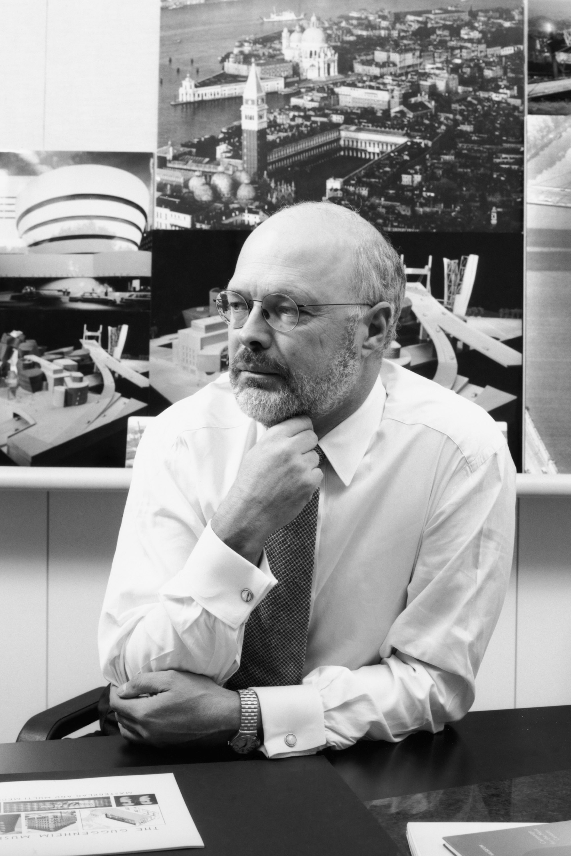 Thomas Krens, outgoing director of the Solomon R. Guggenheim Foundation, poses in this undated photo released to the media on Thursday.