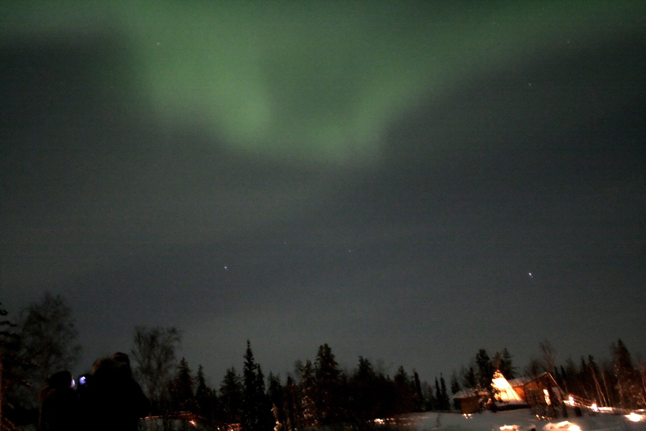 The Northern Lights appear in the sky over Canada's Northwest Territories in this picture taken February 14.