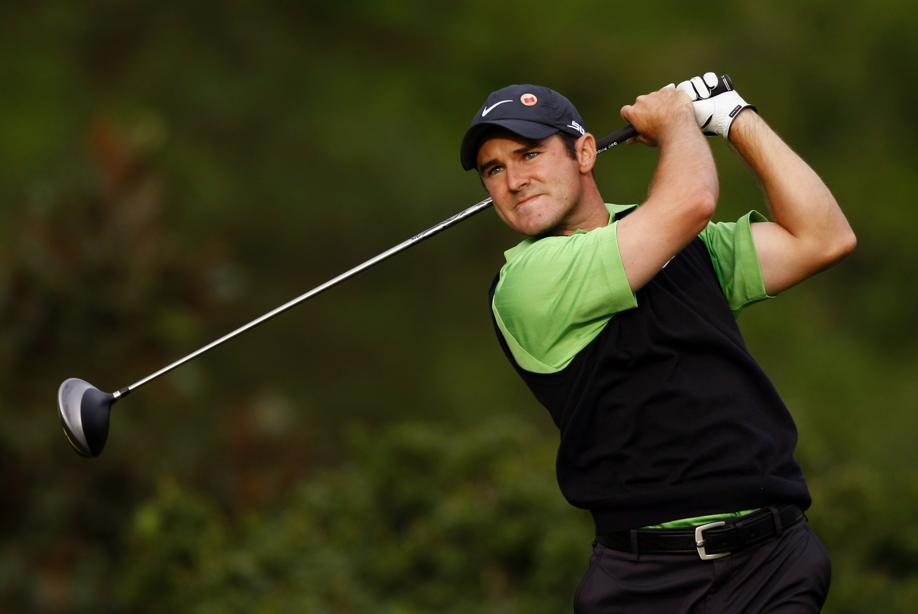 Trevor Immelman watches his tee shot on the 15th hole during the third round of the 2008 Masters golf tournament at the Augusta National Golf Club in ...