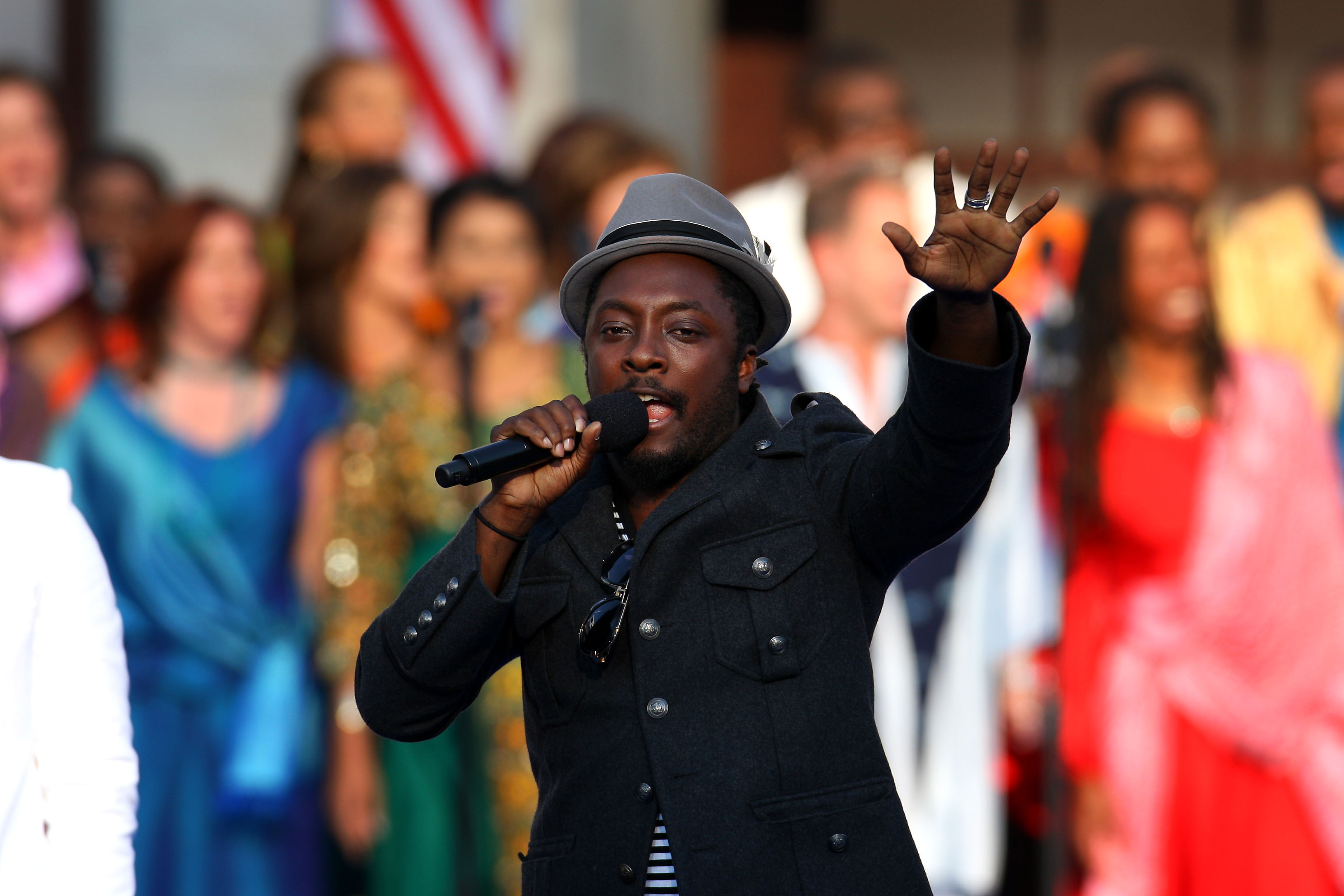 Recording artist will.i.am performs on day four of the Democratic National Convention (DNC) at Invesco Field at Mile High in Denver, Colorado on Aug. ...