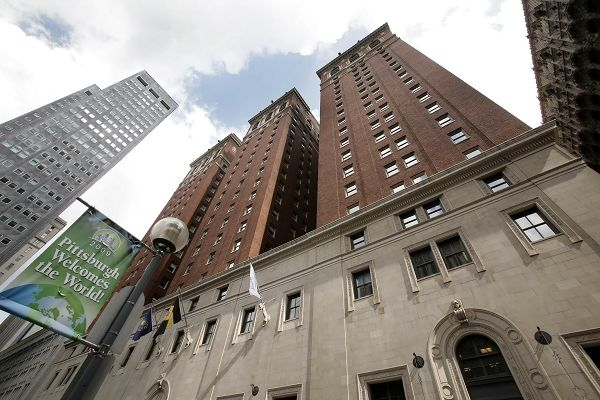 This photo shows the William Penn Omni Hotel, which will house at least two delegations of the G-20 Summit in Pittsburgh, Pennsylvania tomorrow and Fr...